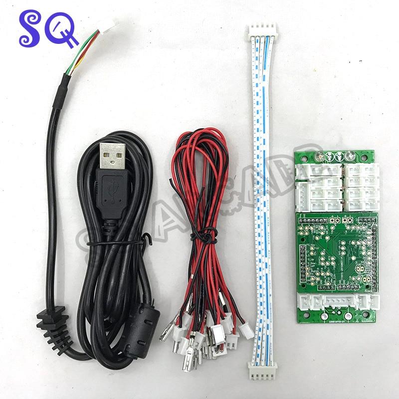 Radiante Envío Gratis Ps4/ps3/pc 3 En 1 Controlador Arcade Usb Joystick Botón Codificador Teclado Con Cable Cables