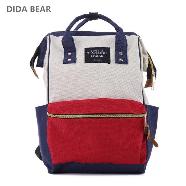 DIDA BEAR Fashion Women Backpacks Female Denim School Bag For Teenagers  Girls Rucksack Large Space Backpack Sac A Dos f828e749ae586