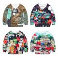 3D Boys Printing Sweaters Autumn winter Fashion Kids Sweaters Baby Cartoon Hedging V-neck child Sweaters