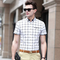 2016 New Arrival Open Stitch Cotton Camisas Yahit In The Summer Of 2017 New Men's Short Sleeve Shirt Printed Mens Wholesale Men