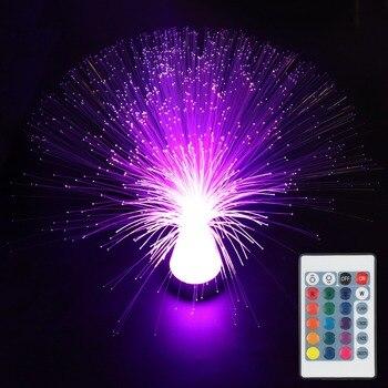 41cm de ancho de luz de fibra óptica con controlador colorido pmma plástico led de fibra óptica ABS lámpara de iluminación de cristal