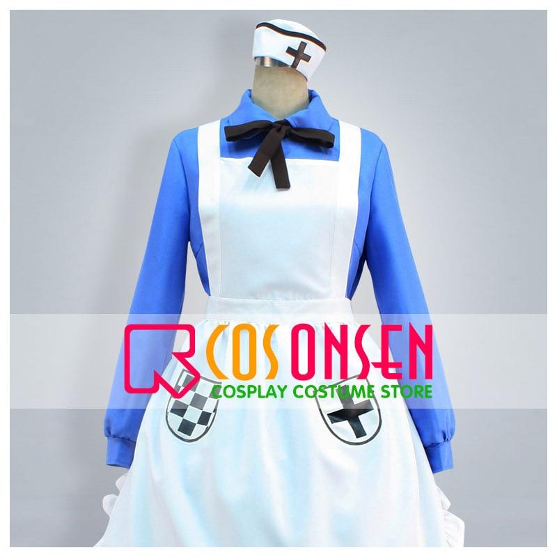 COSPLAYONSEN APH Axis Powers Hetalia Nyotalia England/UK Women Cosplay Costume Dress Custom Made