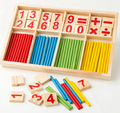 [4Y4A] Montessori Wooden Number Math Game Sticks Educational Toy Puzzle Teaching Aids Set