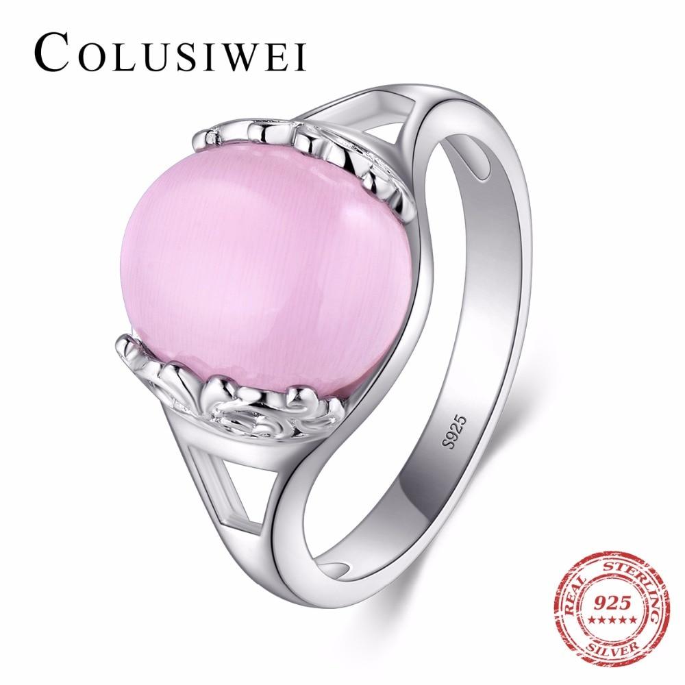 Hot Item COLUSIWEI 100% original Solid 925 Silver Fashion Rings Big ...
