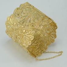 De lujo Del Brazalete de Las Mujeres, chapado en oro grande brazalete de novia joyería de la boda árabe/oriente medio/áfrica/indio/ethiopian/kedis #000711