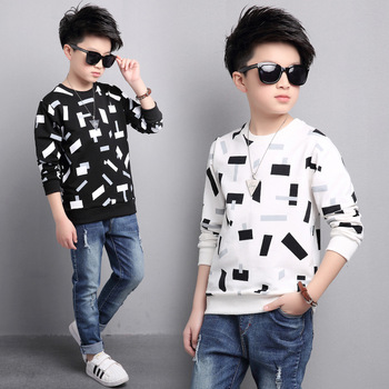 Abstract Print Kids Sweater  1