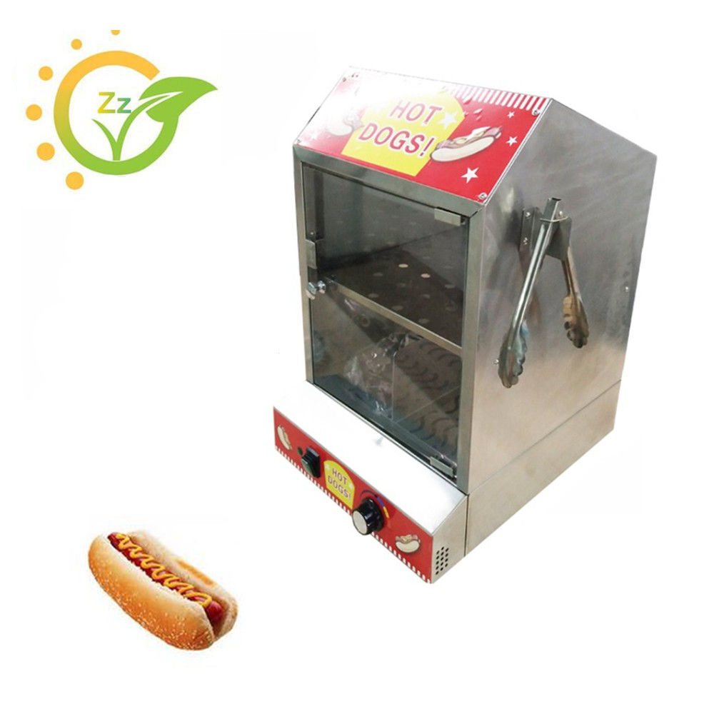 Commercial Hot Dog Display Showcase Keep Warmer Cake Bread Display Machine Equipment Tool high quality hot dog display showcase food warmer stainless steel bread sandwich countertop tool