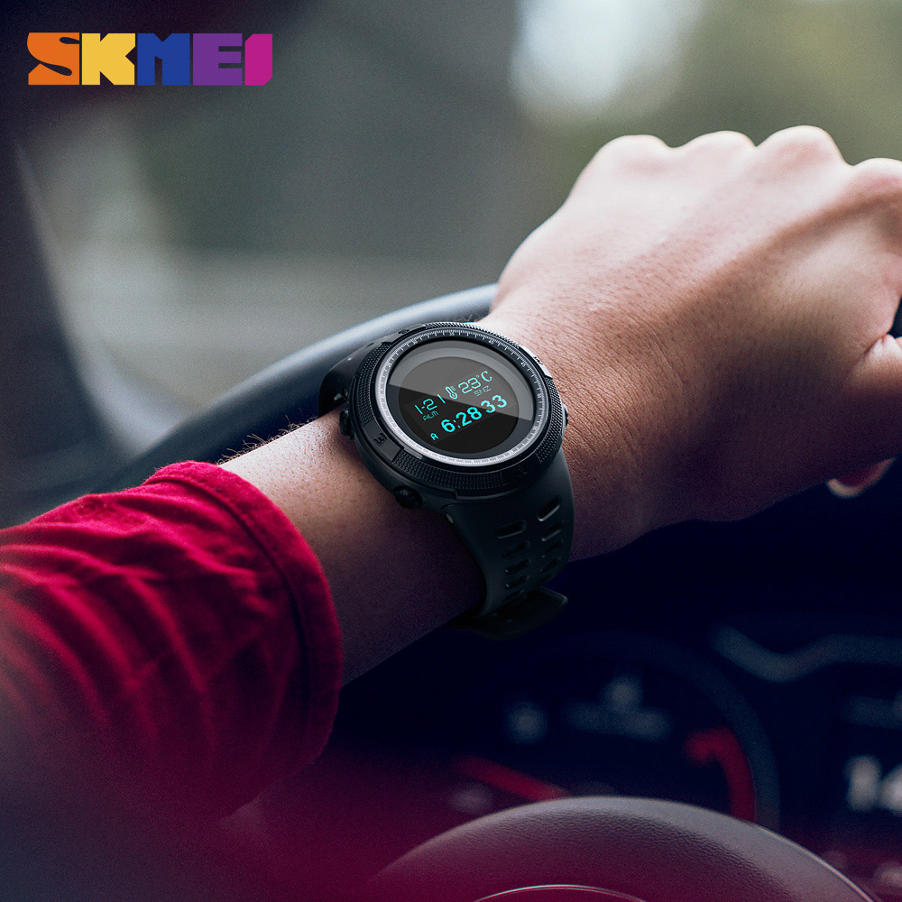 SKMEI Professional Sport Wristwatch Fashion Waterproof Running Exercise Digital Watch Sports Mileage Calories Data Storage in Digital Watches from Watches