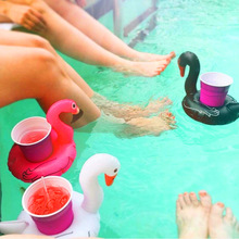Rooxin Inflatable Drink Holder Swan Cup Holder Water Coaster
