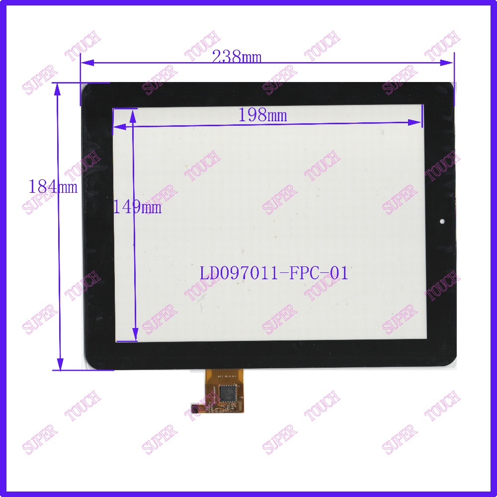 NEW 9.7 inch four wire resistive Touch PANEL 238*184 TOUCH SCREEN the number LD097011 FREE SHIPPING