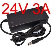 10 шт. высококачественные IC решения AC 100 V-240 V DC 24 V 3A переключатель питания, 72 W светодиодный адаптер, DC 5,5*2,1mm-2,5mm