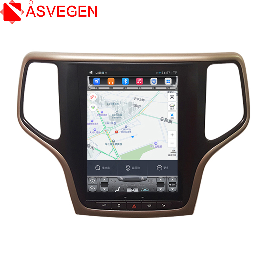 Touch Screen 10.4 inch Android 7.1 Quad Core Car GPS Radio For Jeep Grand Cherokee 2013-2018 2 Din Multimedia DVD Player image