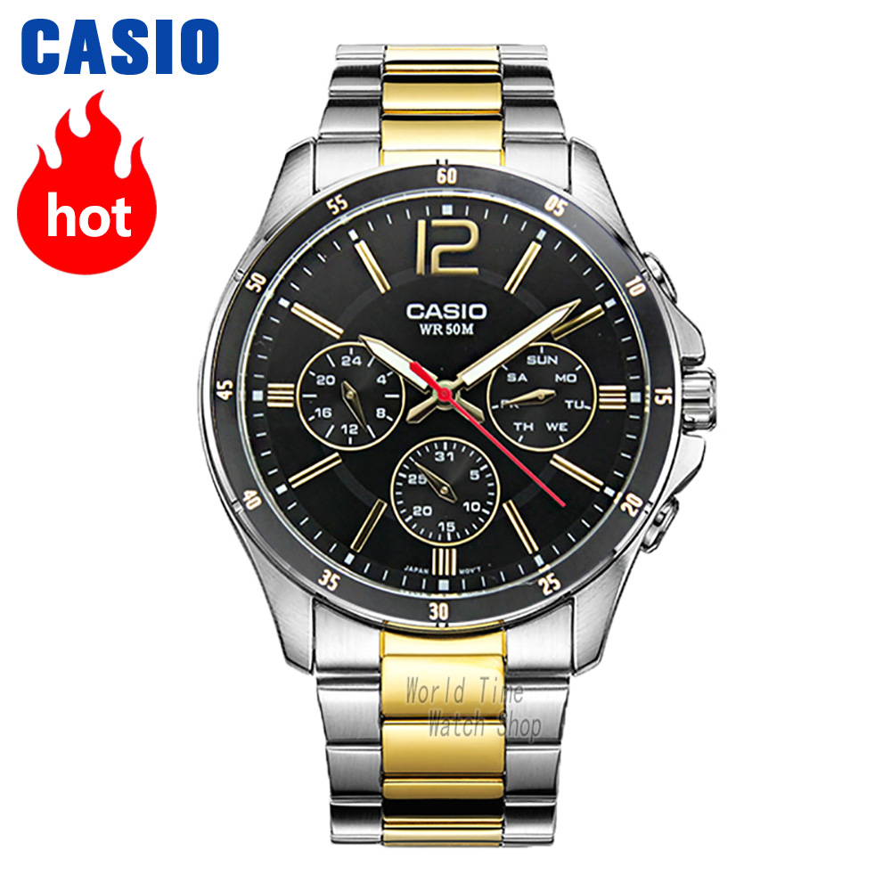 Casio Watch Quartz Luxury-Set Sport Waterproof Top-Brand Men Relogio Masculino 50m