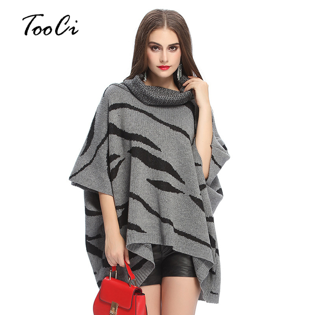 frauen batwing strick saum lose pullover bluse poncho cape. Black Bedroom Furniture Sets. Home Design Ideas