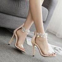 Women High Heels Shoes Fashion Women Peep Toe Thin Heels Party High Heels Shoes Women Crystal