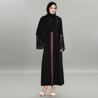 Middle East New Fashion Plus Size XXXXL Lace Kaftan Dubai Cardigan Robe Indonesia Moroccan Dresses