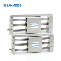 CY1S 32mm Bore Air Slide Cylinder Pneumatic Magnetically SMC Type Coupled Rodless Cylinder Parts NBSANMINSE