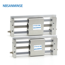 NBSANMINSE CY1S 32mm Bore Air Slide Cylinder Pneumatic Magnetically SMC Type Coupled Rodless Cylinder Parts smc cylinder cdq2a20 45dm a73