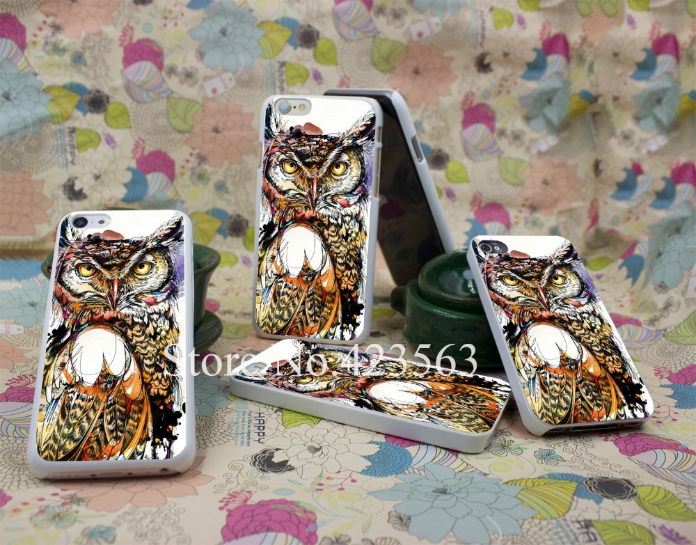 owl sounds Style Hard White Case Cover for iPhone 4 4s 5 5s 6 6s 6 plus Back Print Design