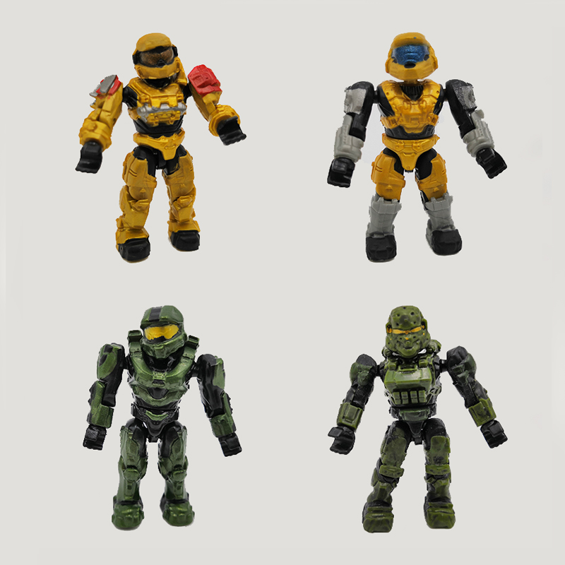 Hight quanlity <font><b>5</b></font>-200PCS 5CM <font><b>Halo</b></font> Wars Warriors Monsters Humans Spartans Games Covenants Guns Soldiers Building Blocks Bricks <font><b>Toy</b></font> image