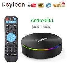 Android 9,0 tv BOX T95Q 4 Гб 64 Гб Amlogic S905 X2 четырехъядерный 5,8 ГГц двойной Wifi 1000 м BT4.1 H.265 4 K LPDDR4 медиаплеер смарт-бокс