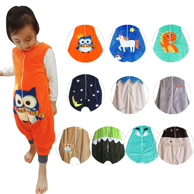 Infant sleeveless flannels vest warm sleeping bag straddle Children gift free shipping 1