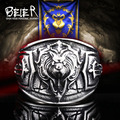 Beier new store world of warcraft The Alliance lion 316L Stainless Steel high quality men ring  Fashion Jewelry    BR8-300