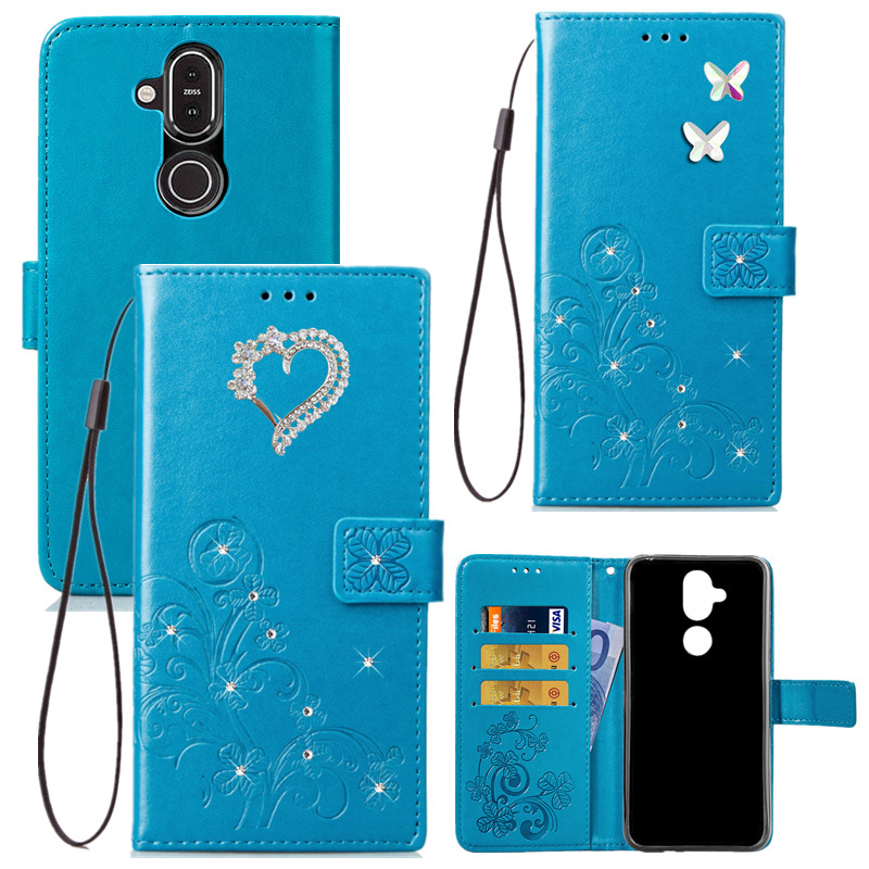 For <font><b>Nokia</b></font> 8.1 7.1 6.1 <font><b>5.1</b></font> 3.1 7 <font><b>Plus</b></font> 4.2 <font><b>Case</b></font> Love Flip PU Leather Card <font><b>Wallet</b></font> Bag Phone <font><b>Case</b></font> For <font><b>Nokia</b></font> 9 PureView 8 6 5 3 Cover image