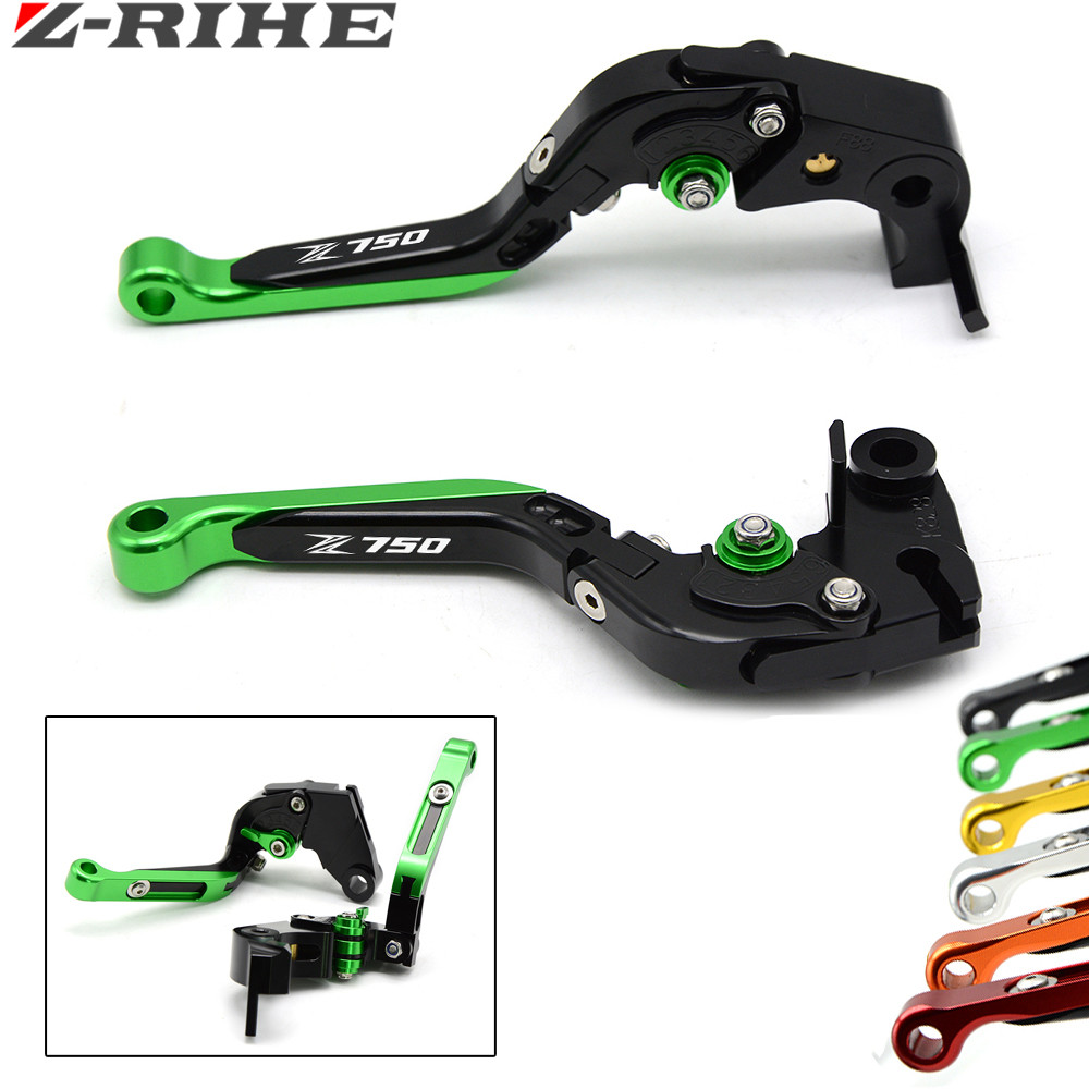 for Logo(Z750) Green+black For Kawasaki Z750S Z 750S (not Z750 model) 2006 2007 2008 CNC Aluminum Motorcycle Brake Clutch Levers divage nail polish everlasting лак для ногтей гелевый тон 08
