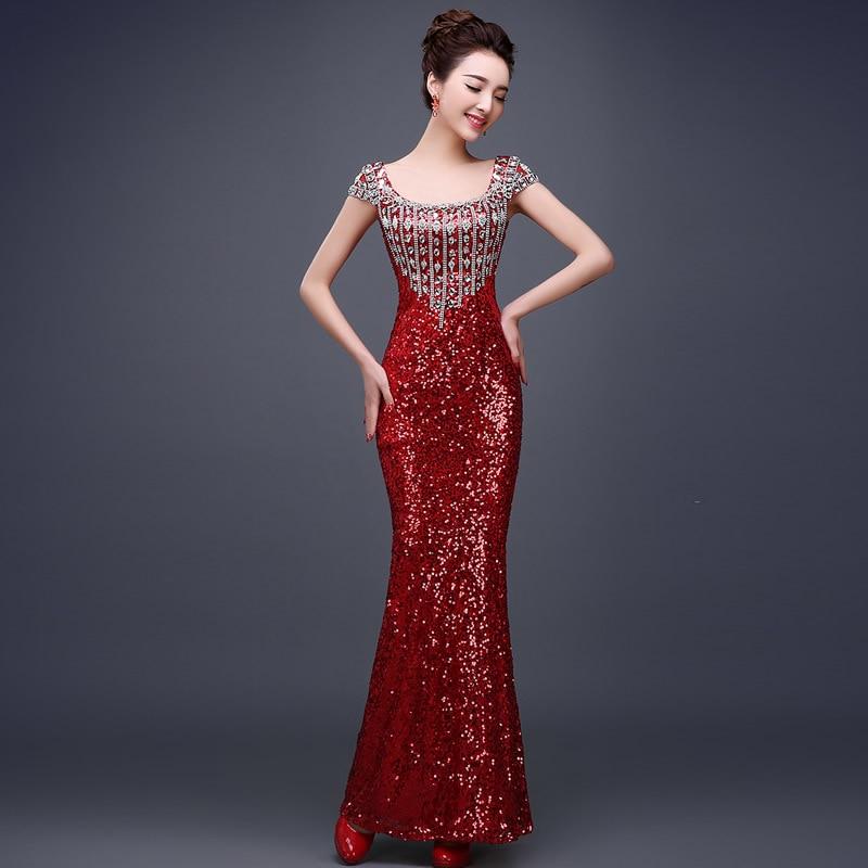 Maxi Sexy Women Sequin Long Summer Dress Party Evening Elegant ...