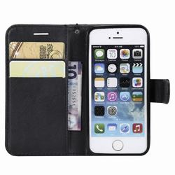 Leather Case For iPhone 5s Case iPhone 5 Cover Flip Bookcase With Card Slots Luxury Phone Case For Coque iPhone 5s 5 s Cover 3