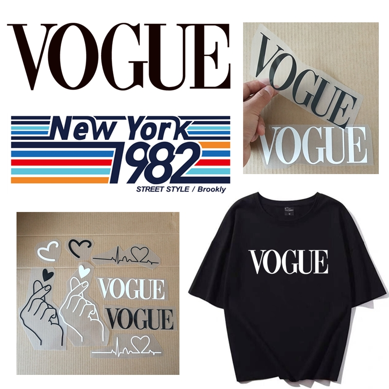 Fashion Heat Transfer Iron-on  Stamp Clothing Decoration Small Patch Decals Badge Parches Ropa Patches For Stickers T-Shirt Diy