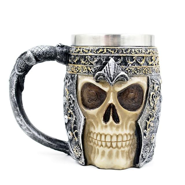 f24d638bf6f196 R$ 55.21 40% de desconto|Canecas de Café personalizadas Caneca Caneca Copo  de Café de Parede Dupla Canecas 3D Cavaleiro Dragão Copo Bebendo para a ...