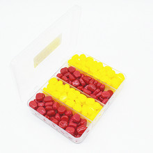 Купить с кэшбэком 200Pcs/Lot with box Yellow and Red Soft Baits corn Carp Fishing Bait Floating Smell Lure Artificial Baits