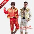 (jacket+ pants+vest) male costumes singer dancer stage European royal clothes male formal dress male formal dress costume