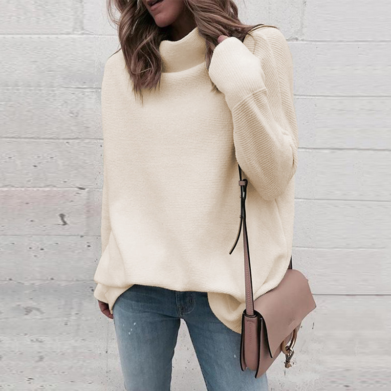 2019 Women's Sweater Half-high Collar Pullover Loose Top Dropshipping