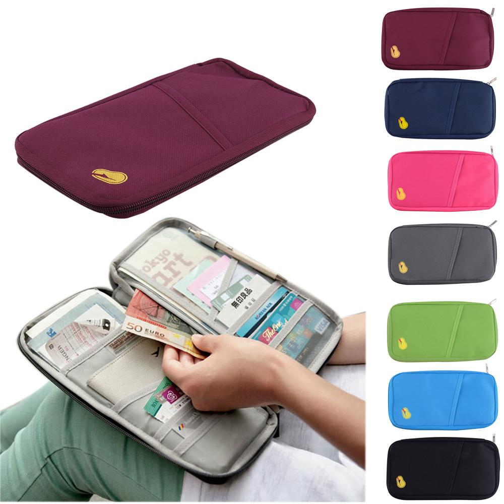 Durable Full Closure Zipped Travel Bag Wallet Document Organiser Card Cash Passport Ticket Holder Pouch Shoe Bags