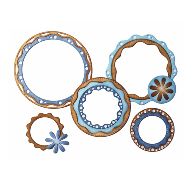 Lace Circle Frames Metal Cutting Dies Stencil for DIY Scrapbooking ...
