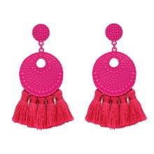 Fashion Ethnic fringe earrings round Hollow bohemian statement big Pendientes tassel earring 2019 Jewelry