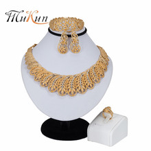 MUKUN 2019 Crystal Bridal Jewelry Sets For Women Nigerian African Beads Jewelry Set Turkish Wedding Necklace and Earrings Set недорого