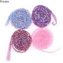 Garniture en dentelle perlée, fer sur rubans en cristal de diamant et dentelle pour décoration de couture pour vêtements, Garnitures, accessoires de Perlage DIY H