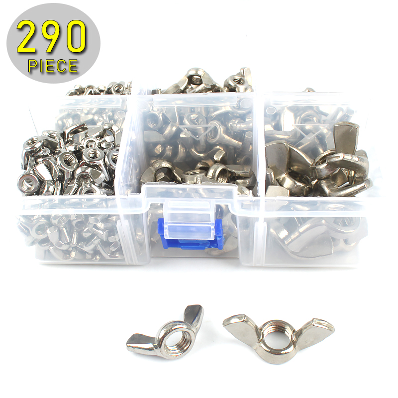 290pcs Butterfly Wing Nuts Assorted Kit