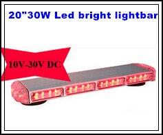 Estrella más alta 53cm, barra de luces de advertencia Led de 30W, - Luces del coche
