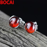 925 sterling silver jewelry fashion ladies pomegranate earrings