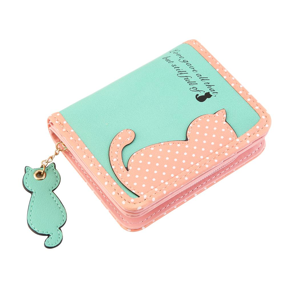 Women Handbag Cute Cat Printed Lady Purse Long Wallet Bags PU Leather Wallet Card Holder Mobile Coin Bag  popular Worldwide sale 2016 brand designer women wallet bags pu leather clutch purse lady short handbag bag for pattern coin woman purse