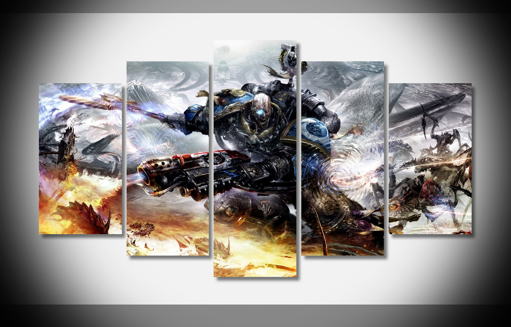 7200 warhammer 40k poster wood framed gallery wrap art for Home interiors and gifts framed art