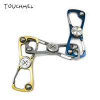 TOUCHMEL Key Ring Hand Spinner Fidget Toy Stress Relief Opener