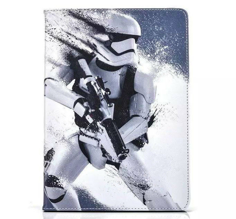 Sci-fi animation Star Wars Jedi Knight Black Darth Vader PU Leather Case Cover For Apple ipad  air ipad 5 Tablet protective Case star wars jedi academy