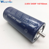 2.85V 3400F 145*60mm Super Farad Capacitor 2.85V3400F Low ESR High Frequency Ultracapacitor Automotive Module Power Supply
