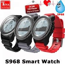 Получить скидку Origina сердечного ритма Мониторы Спорт Водонепроницаемый sim-карты S968 GPS Смарт-часы Поддержка Bluetooth 4.0 SmartWatch для Android IOS Телефон